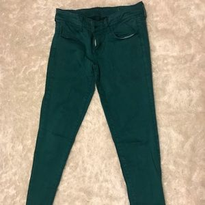 American Eagle jeggings green size 4